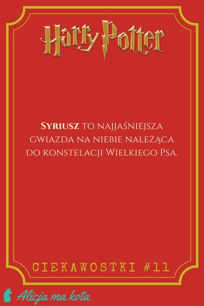 Imiona w Harrym Potterze - Syriusz