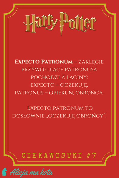 Zaklęcia z Harry'go Pottera - co znaczy Expecto Patronum?