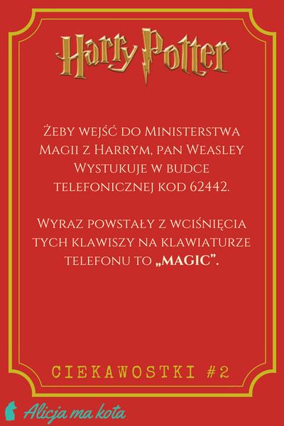 Ministerstwo Magii - ciekawostki, Harry Potter
