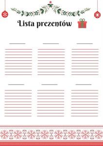 Lista prezentów