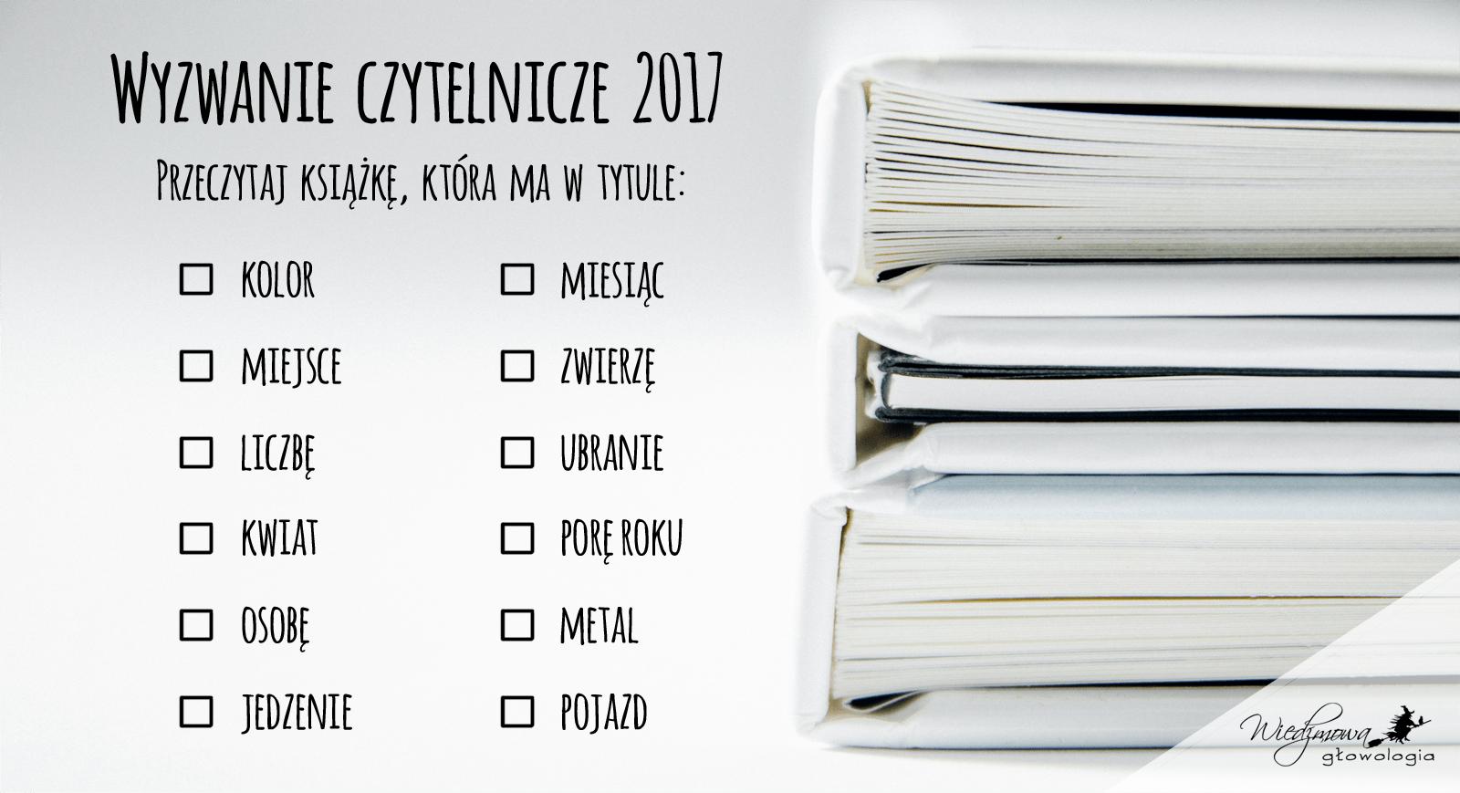 wyzwanie książkowe 2017
