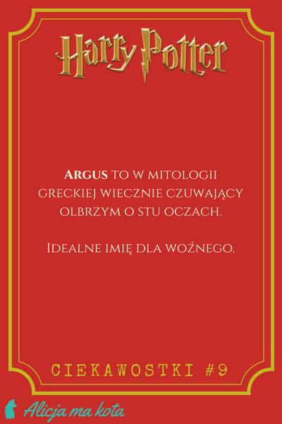 Imiona w Harrym Potterze - Argus Filch