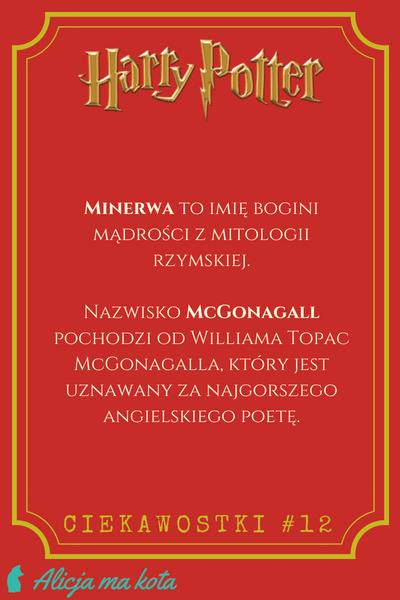 Imiona w Harrym Potterze - Minerwa