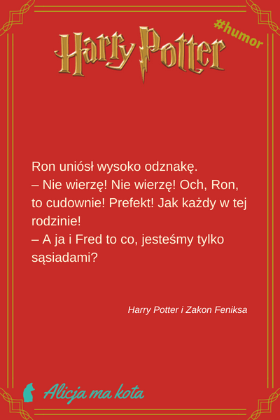 Fred i George - cytaty z HP