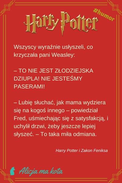 Zakon Feniksa - weasleyowie, cytaty