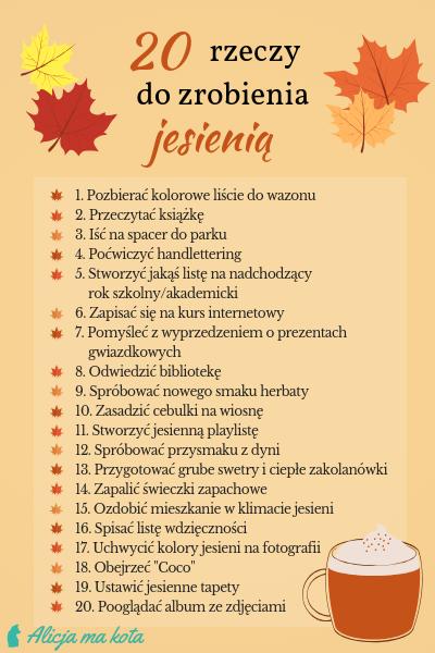 Lista rzeczy do zrobienia w jesieni - Co robić jesienią?